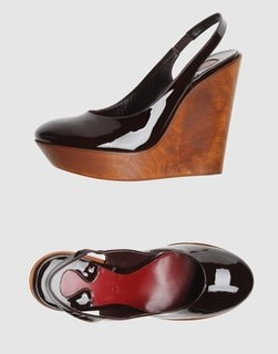 Chloe Patent Leather Wedges