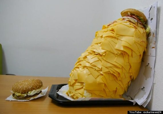 Whopper With 1,000 Slices Of Cheese